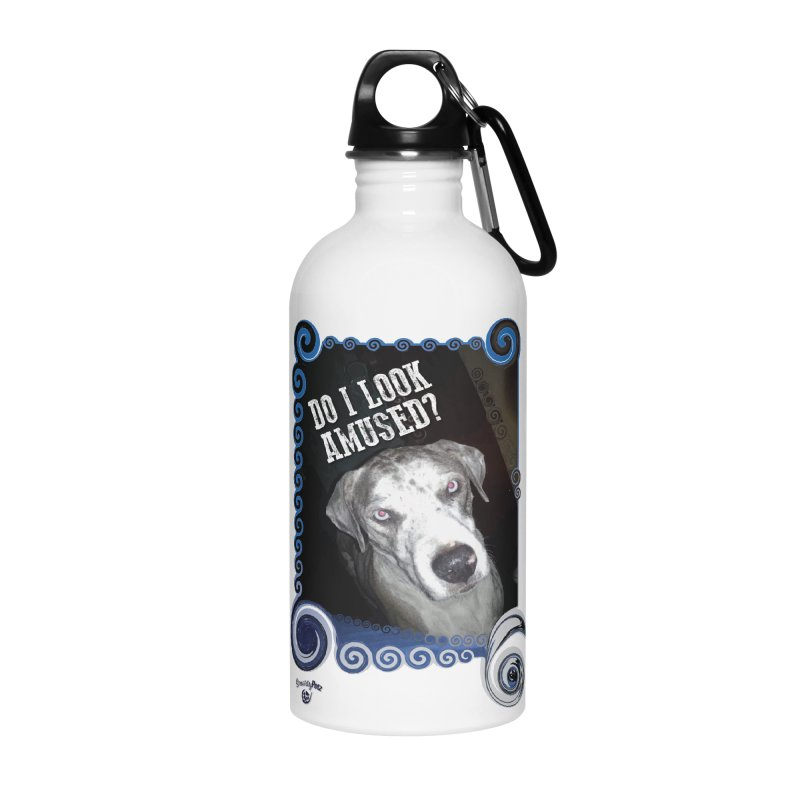 Do I look amused? Accessories Water Bottle by Smarty Petz's Artist Shop