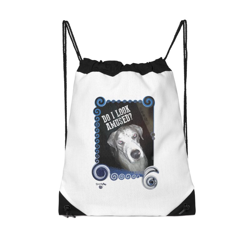 Do I look amused? Accessories Drawstring Bag Bag by Smarty Petz's Artist Shop