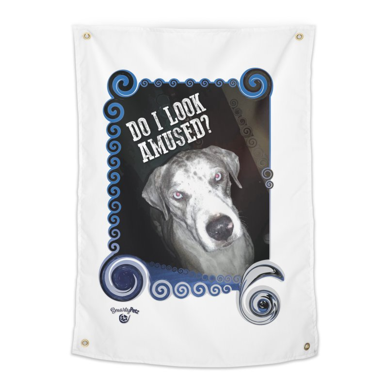Do I look amused? Home Tapestry by Smarty Petz's Artist Shop