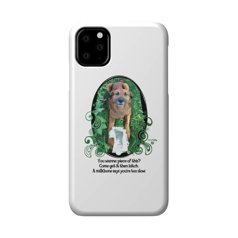 A Milkbone says your too slow. Accessories Phone Case by Smarty Petz's Artist Shop