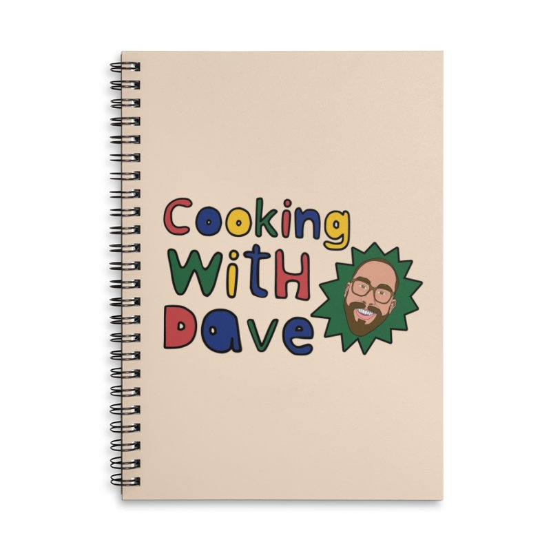 Cooking With Dave Accessories Notebook by Smashing Toledo