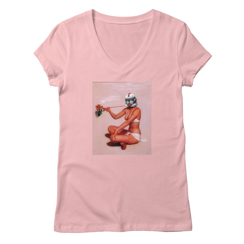 Smoking Hot Clone Women's V-Neck by SmoothImperial's Artist Shop
