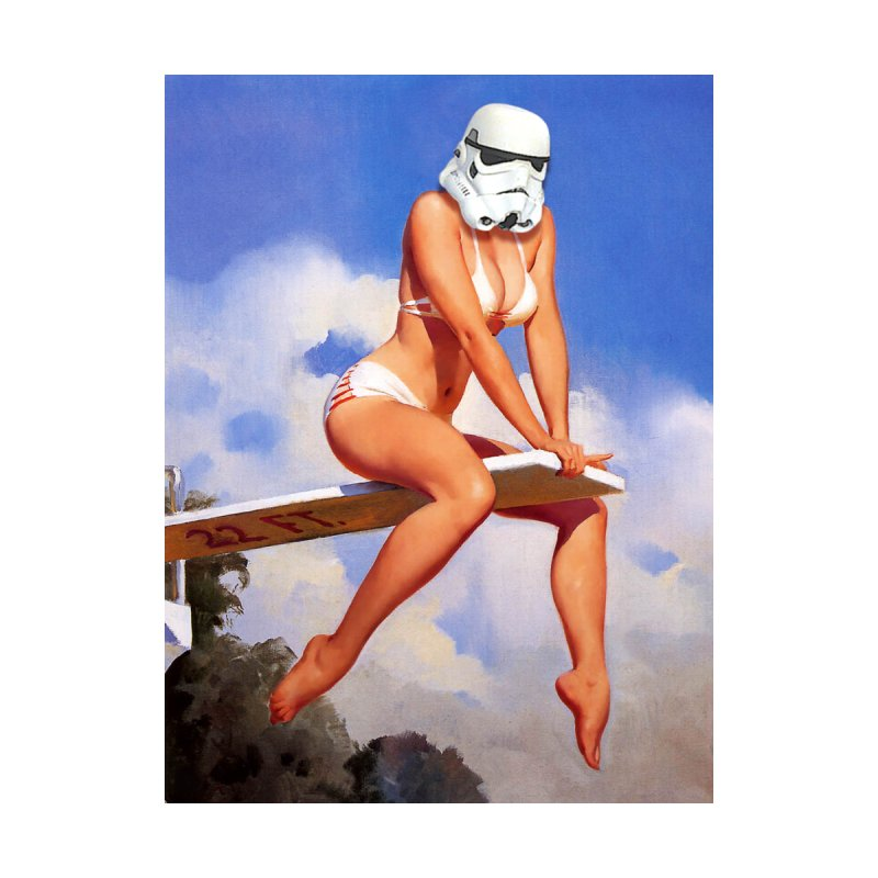 Dive into The Empire Home Fine Art Print by The Death Star Gift Shop