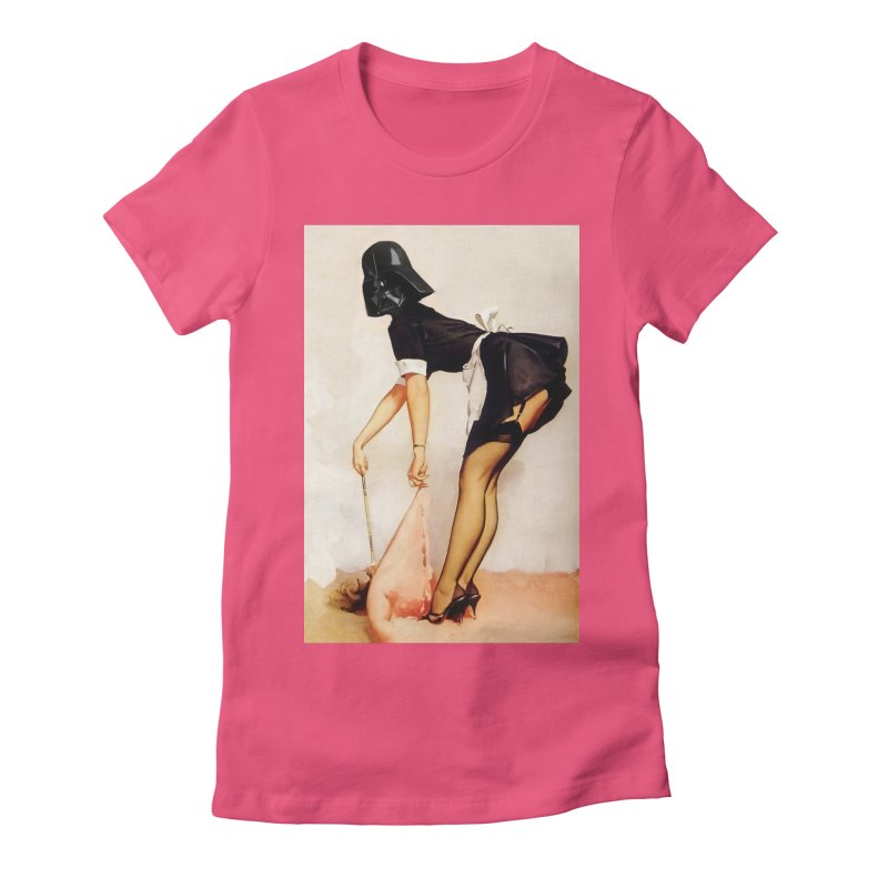 Maid Vader Women's Fitted T-Shirt by SmoothImperial's Artist Shop