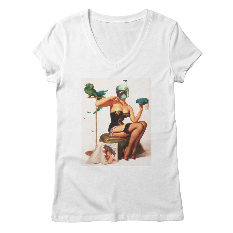 Bobette Fett Women's Regular V-Neck by The Death Star Gift Shop