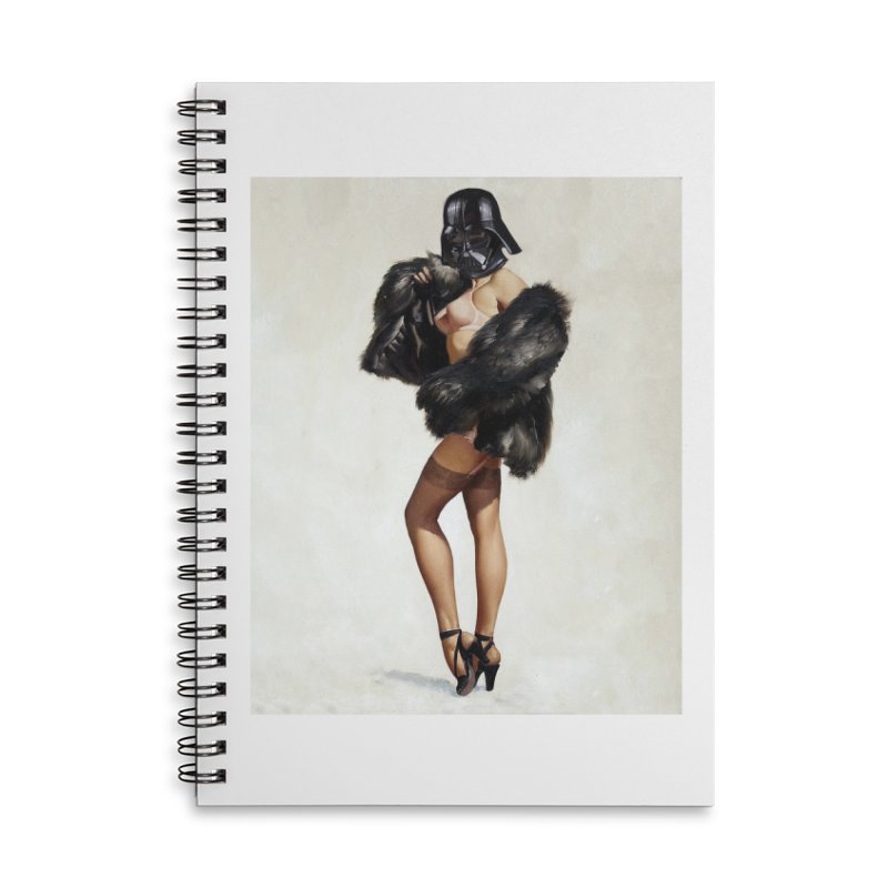 Darth Gorgeous! Accessories Lined Spiral Notebook by SmoothImperial's Artist Shop