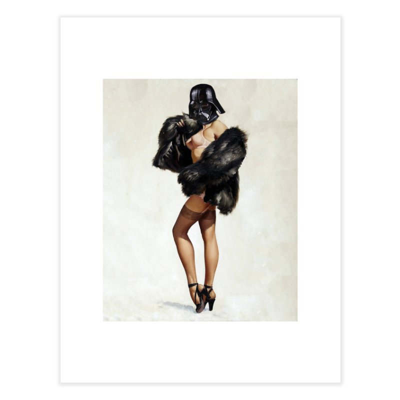 Darth Gorgeous! Home Fine Art Print by The Death Star Gift Shop