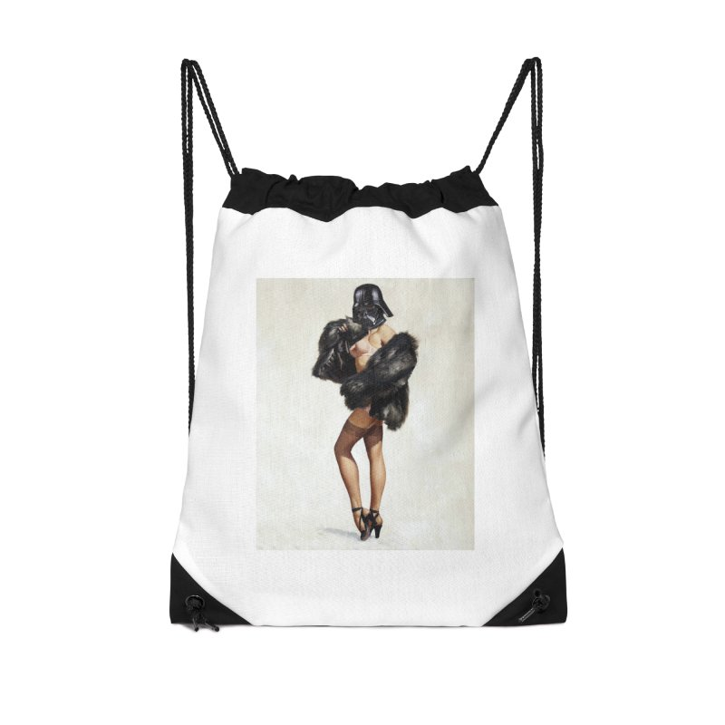 Darth Gorgeous! Accessories Drawstring Bag Bag by SmoothImperial's Artist Shop