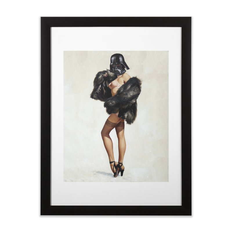 Darth Gorgeous! Home Framed Fine Art Print by The Death Star Gift Shop