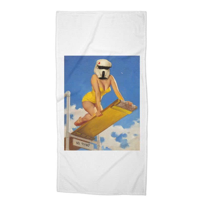 NO DIVING! Accessories Beach Towel by The Death Star Gift Shop