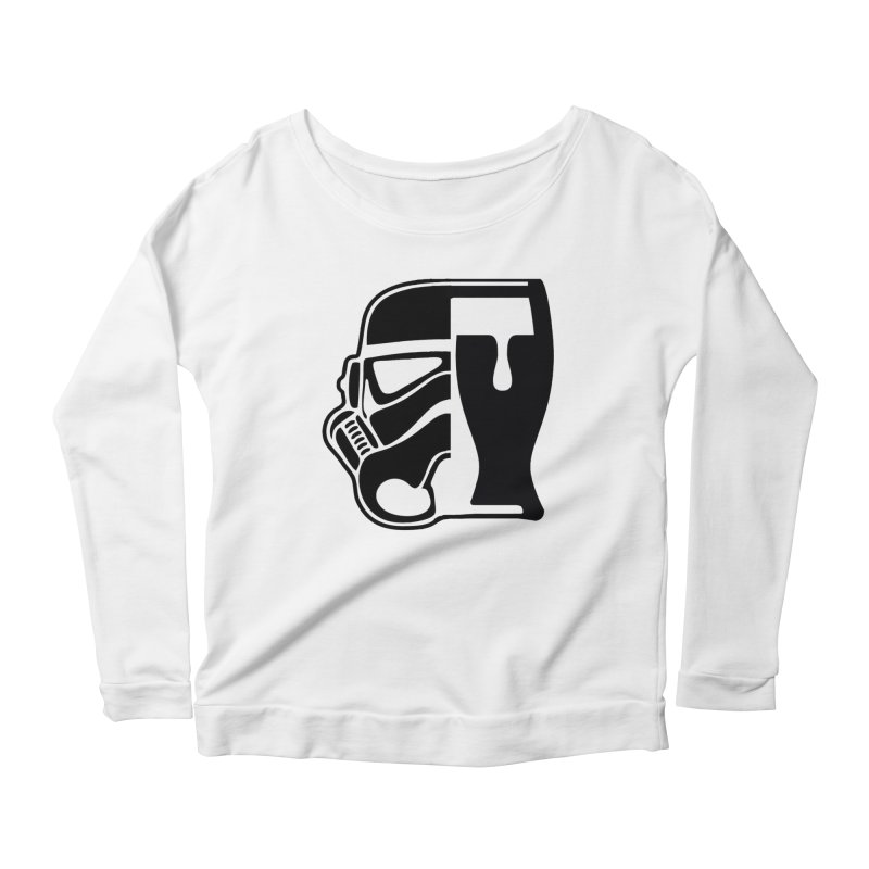 Buckets and Beers Episode III Women's Scoop Neck Longsleeve T-Shirt by The Death Star Gift Shop