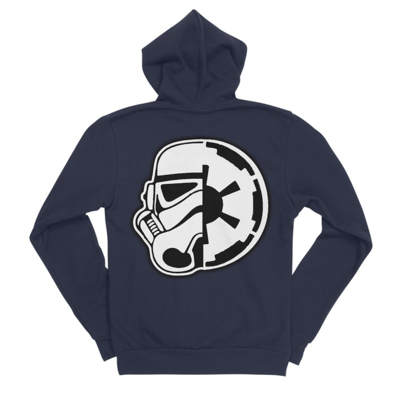 Smooth Imperial Men's Sponge Fleece Zip-Up Hoody by The Death Star Gift Shop