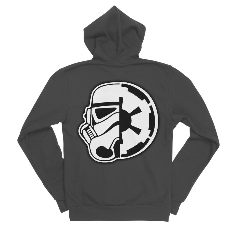 Smooth Imperial Women's Sponge Fleece Zip-Up Hoody by The Death Star Gift Shop