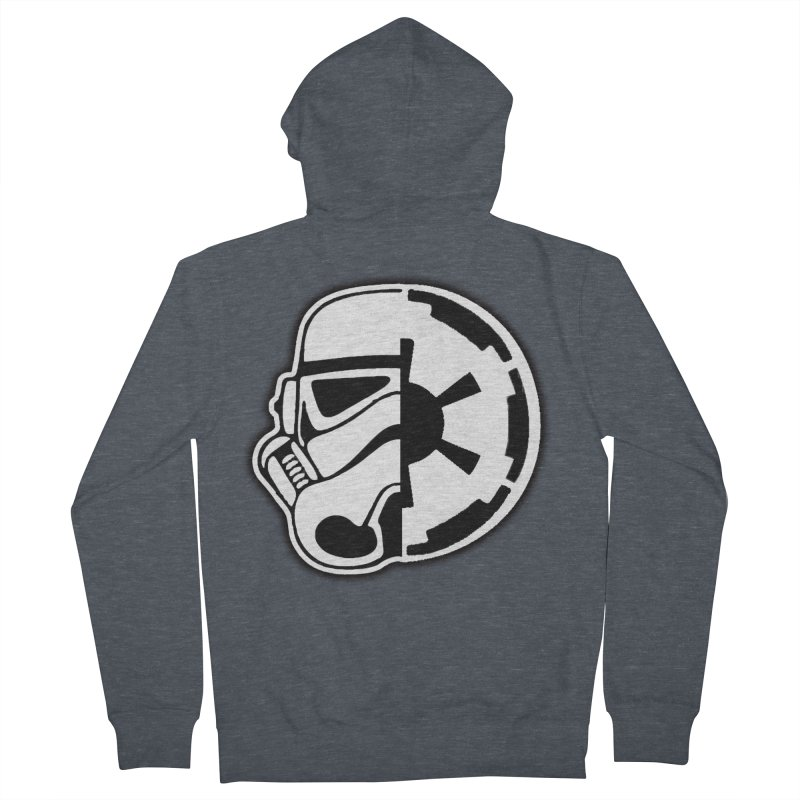 Smooth Imperial Men's French Terry Zip-Up Hoody by The Death Star Gift Shop