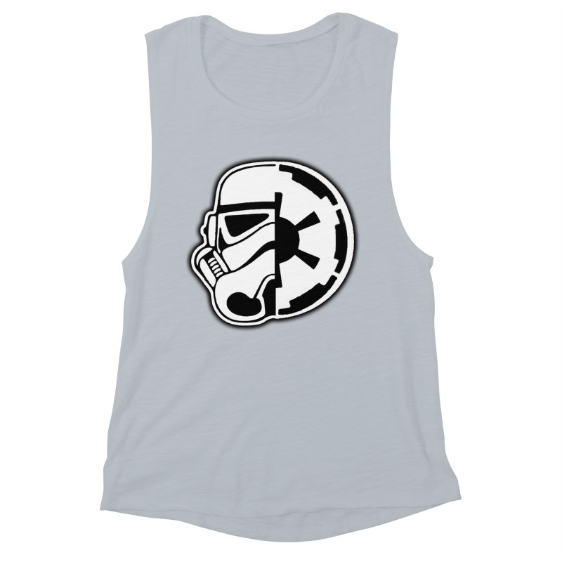 Smooth Imperial Women's Muscle Tank by The Death Star Gift Shop
