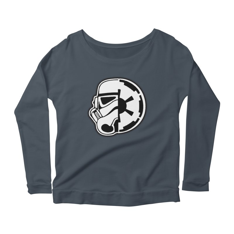 Smooth Imperial Women's Scoop Neck Longsleeve T-Shirt by The Death Star Gift Shop