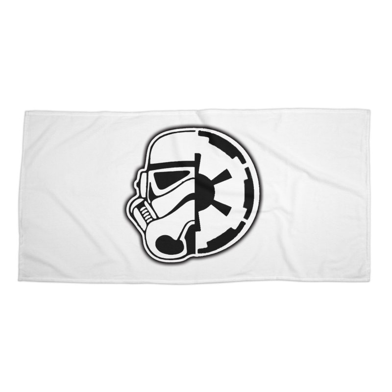 Smooth Imperial Accessories Beach Towel by The Death Star Gift Shop