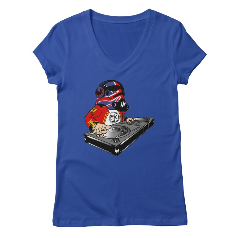 Groove Imperial Women's Regular V-Neck by The Death Star Gift Shop