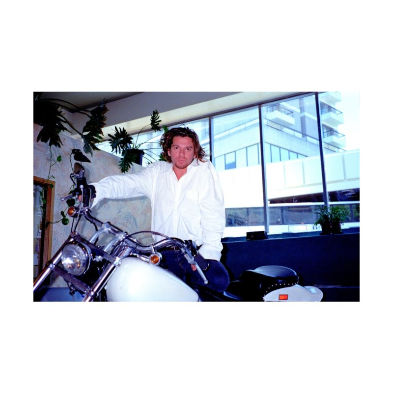 Michael Hutchence With Harley Davidson  by Richard Simpkin's Snap Crackle And Pop Art