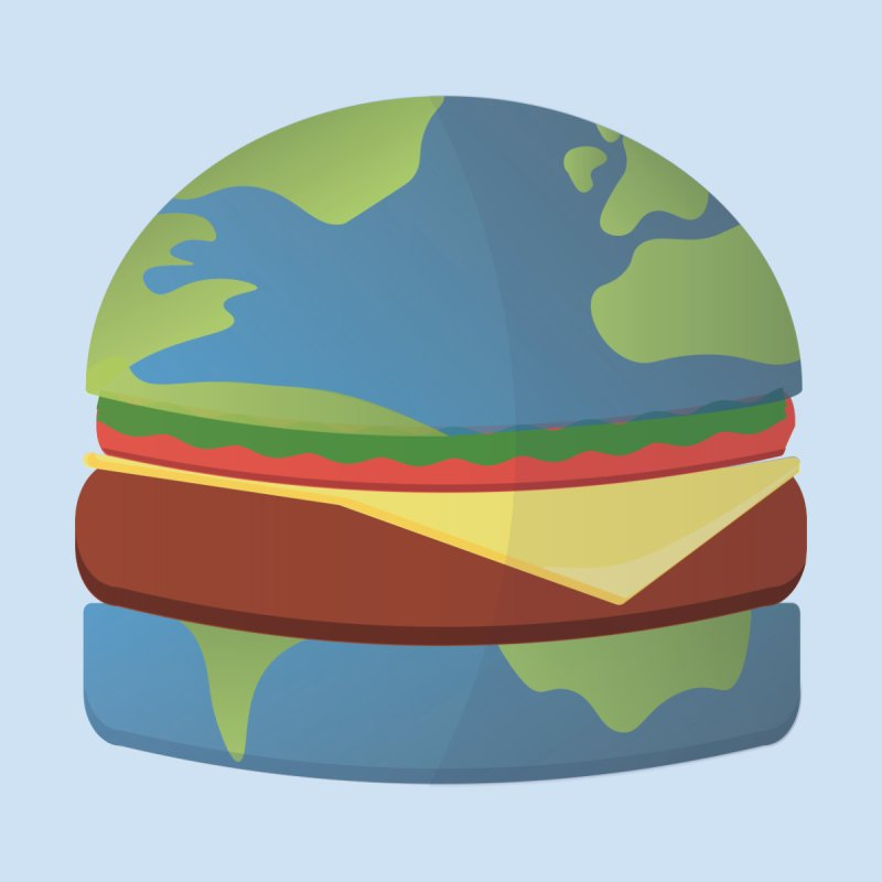 Earth Burger Men's T-Shirt by SneakyCatDesign's Artist Shop