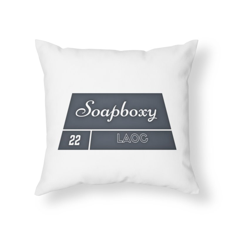 Soapboxy Box 22 Home Throw Pillow by Soapboxy Boutique
