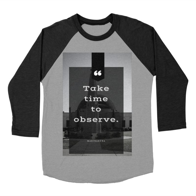 Observation Tee & Accessories Women's Baseball Triblend Longsleeve T-Shirt by Soapboxy Boutique