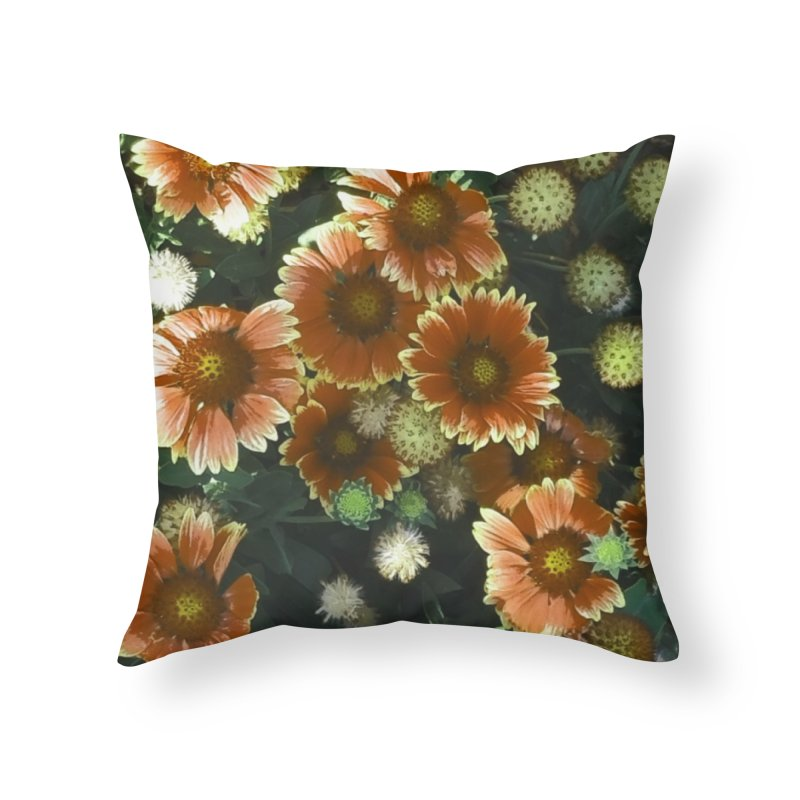 Peached Flowers Huntington Series in Throw Pillow by Soapboxy Boutique