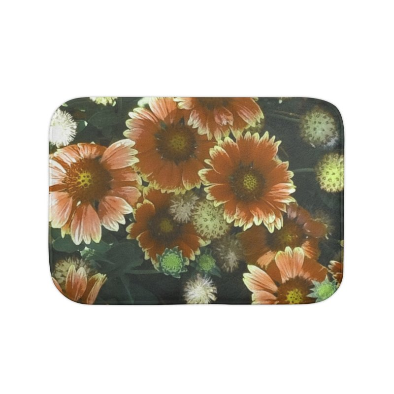 Peached Flowers Huntington Series Home Bath Mat by Soapboxy Boutique