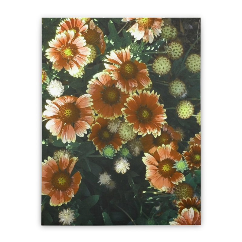 Peached Flowers Huntington Series Home Stretched Canvas by Soapboxy Boutique