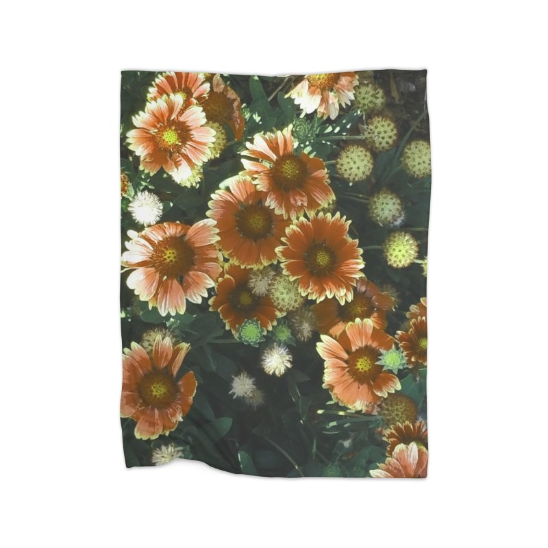 Peached Flowers Huntington Series Home Fleece Blanket Blanket by Soapboxy Boutique