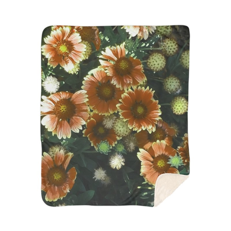 Peached Flowers Huntington Series Home Sherpa Blanket Blanket by Soapboxy Boutique