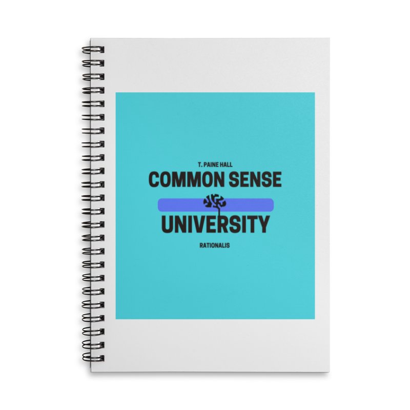 Common Sense U design in Lined Spiral Notebook by Soapboxy Boutique