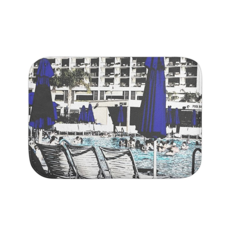 Poolside in Bath Mat by Soapboxy Boutique