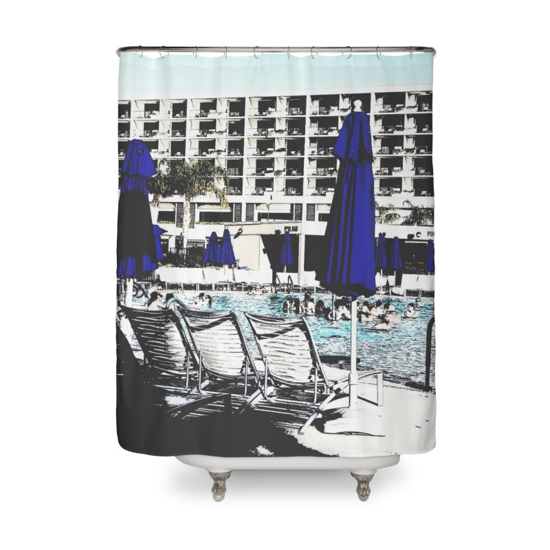 Poolside Home Shower Curtain by Soapboxy Boutique