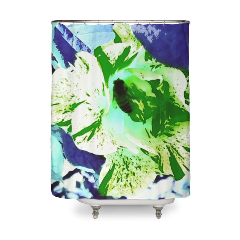 BG Bee Huntington series Home Shower Curtain by Soapboxy Boutique