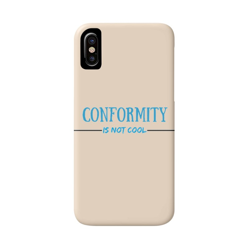 Conformity in iPhone X / XS Phone Case Slim by Soapboxy Boutique