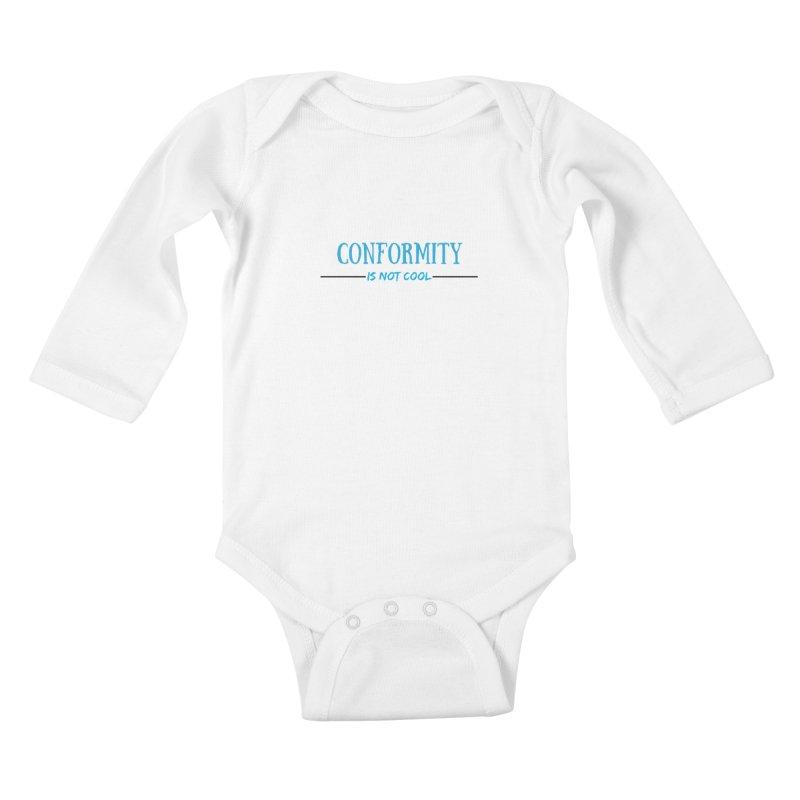 Conformity Kids Baby Longsleeve Bodysuit by Soapboxy Boutique