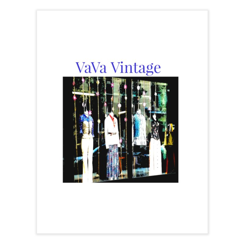 VaVa Vintage Home Fine Art Print by Soapboxy Boutique