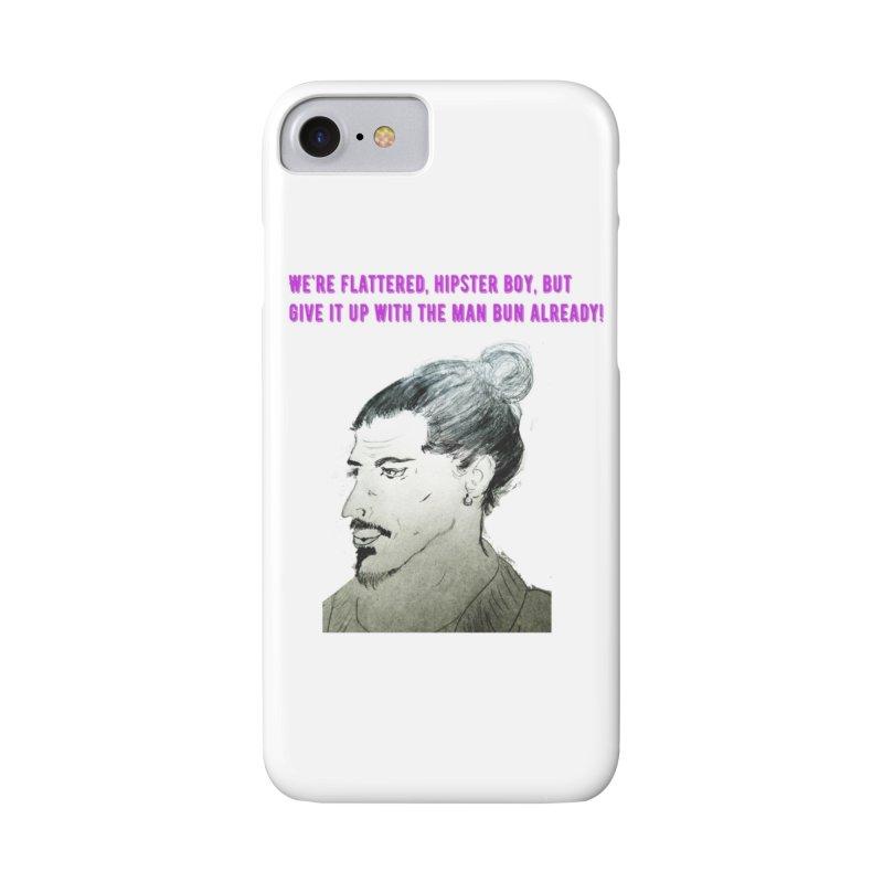 No man bun Accessories Phone Case by Soapboxy Boutique