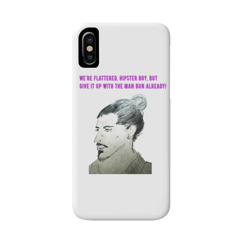 No man bun Accessories Phone Case by Soapboxy Boutique