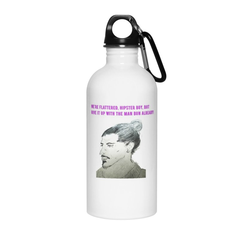 No man bun Accessories Water Bottle by Soapboxy Boutique