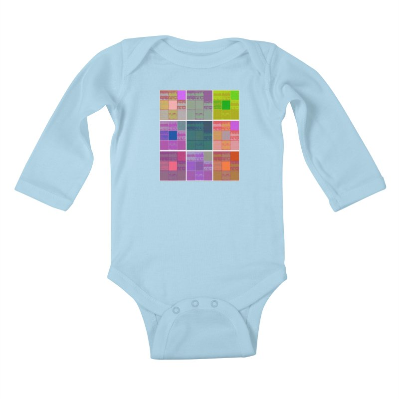 3 Cubed Kids Baby Longsleeve Bodysuit by Soapboxy Boutique