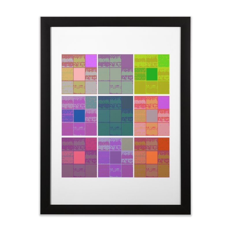 3 Cubed Home Framed Fine Art Print by Soapboxy Boutique