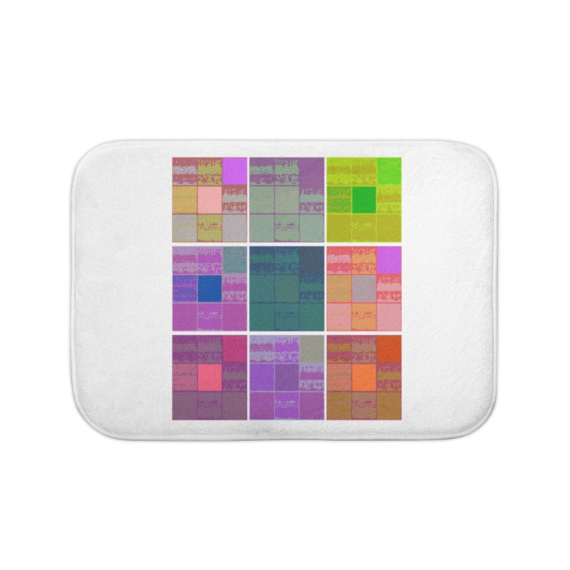 3 Cubed in Bath Mat by Soapboxy Boutique
