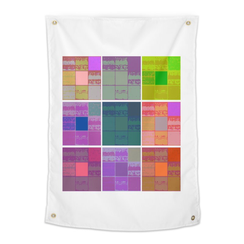 3 Cubed Home Tapestry by Soapboxy Boutique