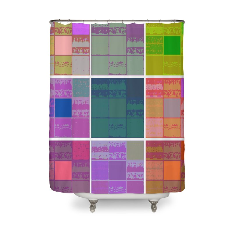 3 Cubed Home Shower Curtain by Soapboxy Boutique