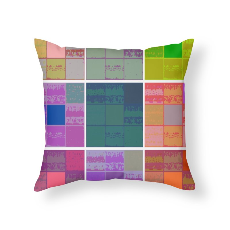 3 Cubed in Throw Pillow by Soapboxy Boutique