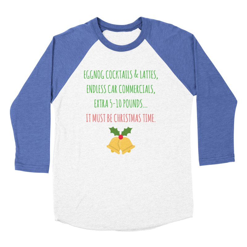 Eggnog Endless Extra Women's Baseball Triblend Longsleeve T-Shirt by Soapboxy Boutique