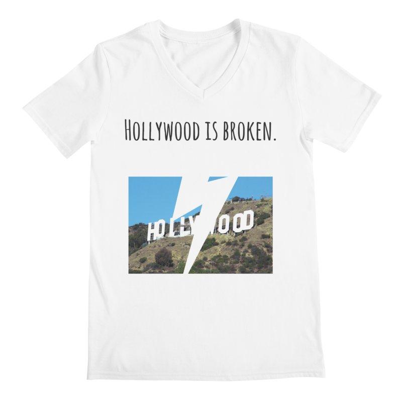 Hollywood is broken Men's V-Neck by Soapboxy Boutique