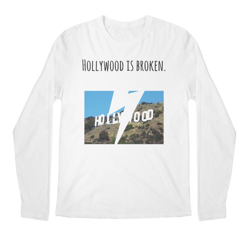 Hollywood is broken Men's Longsleeve T-Shirt by Soapboxy Boutique